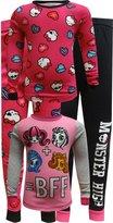 Komar Kids Monster High BFF Cotton 4 Piece Pajama for girls