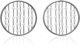 Fallon Prodigiam Pearl Disc Hoop Earrings