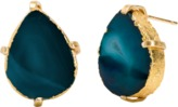 Mela Artisans Dewdrop in Teal Stud Earrings