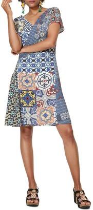 Desigual Saya Mid-Length Swing Dress in Graphic Print