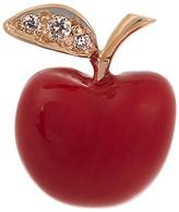 Alison Lou Diamond, enamel & yellow-gold Apple earring