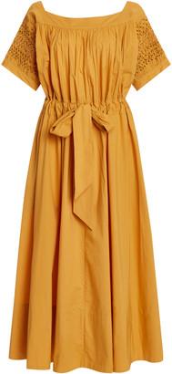 Thierry Colson Vera Belted Cotton Midi Dress