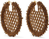 Oscar de la Renta Beaded Earrings - Gold