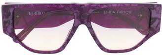 Linda Farrow x Attico angular frame sunglasses