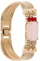 Iosselliani Elegua rose quartz fringed bracelet