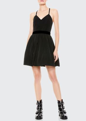 Alice + Olivia Madison Pleated Strappy Mini Dress