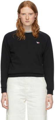 MAISON KITSUNÉ Black Tricolor Fox Sweatshirt