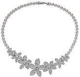 Nina Lilac Flower Faux-Pearl Statement Necklace