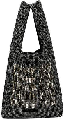 Alexander Wang Wanglock Crystal Thank-You Shopper Tote