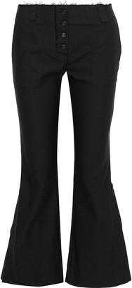 Proenza Schouler Button-detailed Cotton-blend Twill Flared Pants