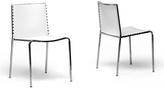 Baxton Studio White Modern Side Chair - Set of Two