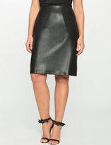 ELOQUII Plus Size Studio Faux Leather Pencil Skirt