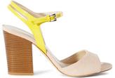 Karen Millen Suede Colour-Block Heel Sandal