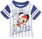 Freeze Mickey Mouse White 'All Star Player' Crewneck Tee - Toddler