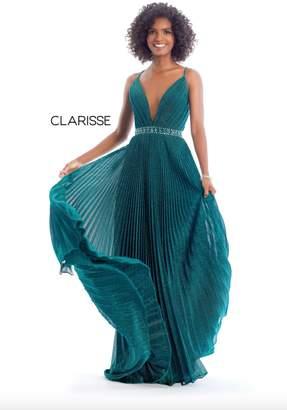 Clarisse Metallic Emerald Gown