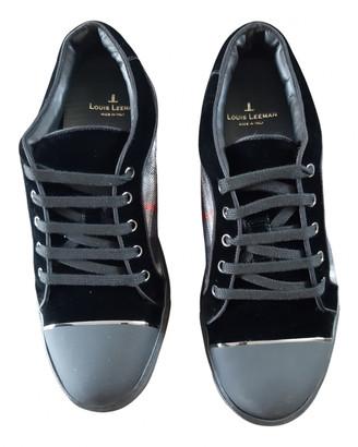 Louis Leeman Black Leather Trainers