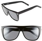 Saint Laurent Women's 59Mm Sunglasses - Black/ Black/ Silver