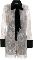 Philosophy Di Lorenzo Serafini lace bow collar playsuit