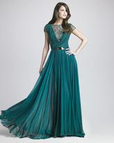 Elie Saab Lattice Chiffon Gown