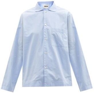 Tekla Organic-cotton Poplin Pyjama Top - Light Blue