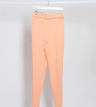 Asos DESIGN Tall high waist belted cigarette pant in pastel pop