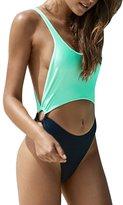 Viottis Women's Cut-out Bandage Halter One-piece Swimsuit Monokini S
