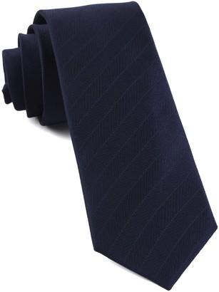Tie Bar Herringbone Vow Navy Tie