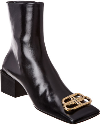 Balenciaga Double Square Bb Leather Bootie
