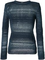 Balmain crocheted detail jumper - women - Cotton/Viscose - 36