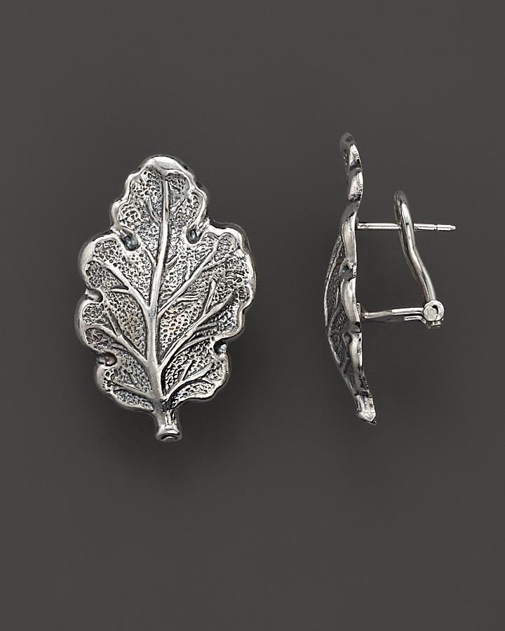 """Buccellati Oak"""" 1 Small Leaf Earrings"""