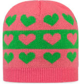 Gucci Baby hearts striped wool hat