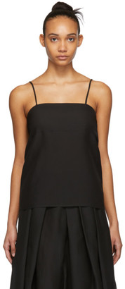 Sara Lanzi Black Silk Tank Top