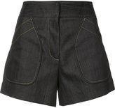 Derek Lam patch pockets denim shorts - women - Cotton/Elastodiene - 38
