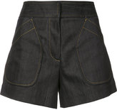 Derek Lam patch pockets denim shorts - women - Cotton/Elastodiene - 44