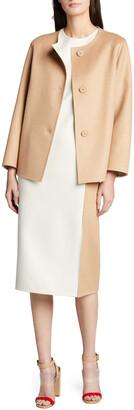 Akris Bicolor Reversible Wool-Blend Jacket