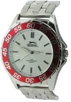 Slazenger Men's Quartz Watch with Silver Dial Analogue Display and Silver Bracelet SLZ158/C