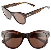Valentino Women's 51Mm Round Sunglasses - Dark Havana