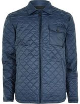 River Island MensNavy Only & Sons quilted jacket