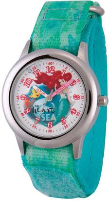 Disney Collection Ariel The Little Mermaid Girls Green Strap Watch-Wds000203