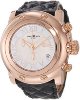 Glam Rock Women's GR11132 Miami Chronograph Enamel Dial Black Shiny Patent Leather Watch