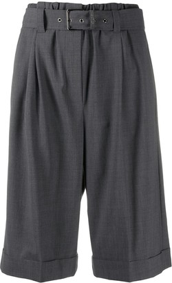 Brunello Cucinelli High-Rise Pleated Bermuda Shorts