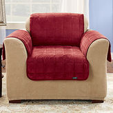 Sure Fit Quilted Velvet Deluxe Chair Pet Furniture Cover