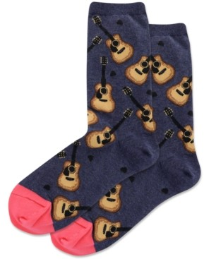 Hot Sox Acoustic Guitars Crew Socks
