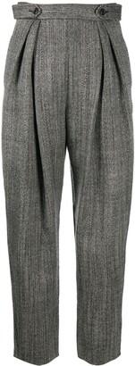 Alberta Ferretti Pleated Tapered Trousers