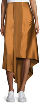 Elizabeth and James Sydney Silk Satin Midi Skirt, Coppertone