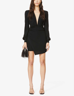 Redemption Ruched fitted stretch-knit mini dress