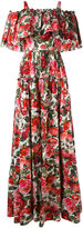Dolce & Gabbana rose print long dress - women - Cotton - 46