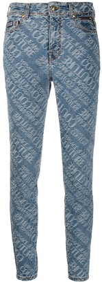 Versace Jeans Couture Logo Jaquard Skinny Jeans