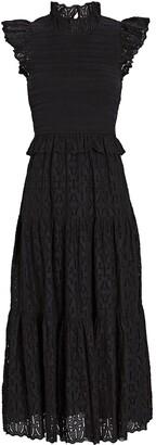 Sea Ingrid Smocked Cotton Midi Dress