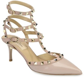Valentino Rockstud Patent Leather Slings